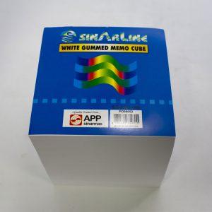 White Gummed Memo Cube